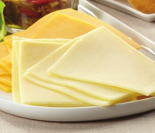 Sliced White American Cheese - 1 lb.