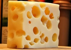 Block Domestic Swiss Cheese - 1 lb.
